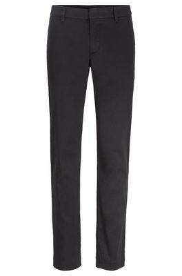 HUGO BOSS - Slim Fit Pants In A Cotton Blend With Taped Pockets