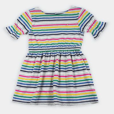 Nautica Girls' Striped Bell Sleeve Jersey Dress (8-20)