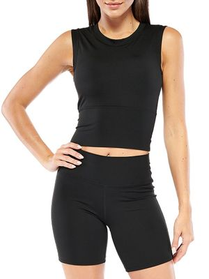 ELECTRIC YOGA Built-In Bra Cropped Top