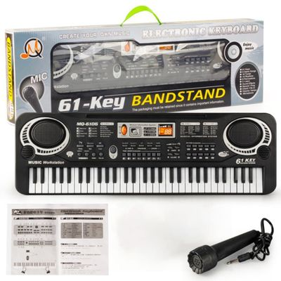 61 Keys Music Electronic Digital Keyboard Electric Organ Children Great Gifts With Microphone Musical Instrument Top quality hot
