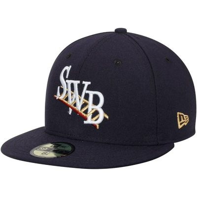 Scranton Wilkes-Barre RailRiders New Era Alternate Authentic Collection 59FIFTY Fitted Hat - Navy