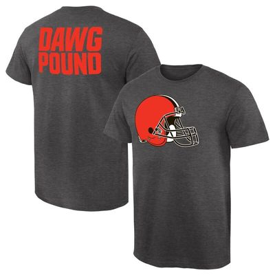 Cleveland Browns NFL Pro Line by Fanatics Branded Rally Logo T-Shirt - Heathered Gray