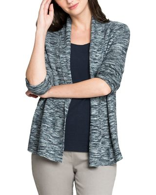 NIC+ZOE Petite Mixed Up Linen-Blend Cardy