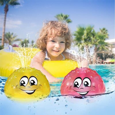 Electric Sprinkler Water Spray Toy Light Music Rotate Water Bath Toy Funny 3D Space UFO Water Spray Toy Children Swimming Toy