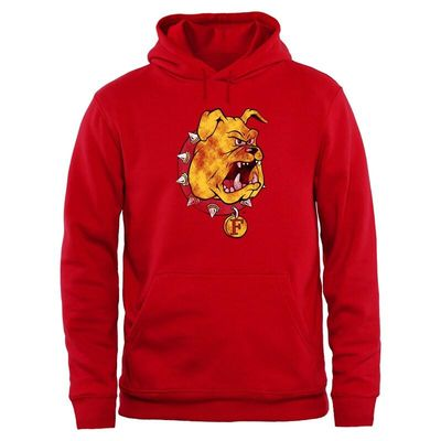 Ferris State Bulldogs Big & Tall Classic Primary Pullover Hoodie - Red