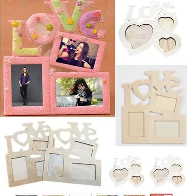 Home Decor Love Wooden Family Picture Photo Frame album decoration accesssories picture frame DIY Craft decao  Storage Holder
