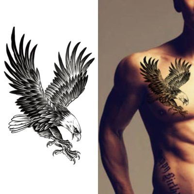 New Eagle Waterproof Temporary Body Art Arm Shoulder Chest Tattoo Sticker Women/Men Hot Sale