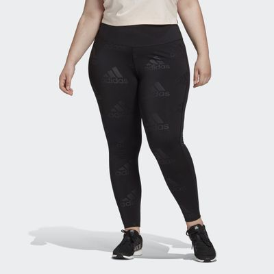 Adidas Believe This Glam On Long Tights (plus Size)