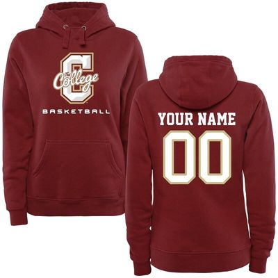 Charleston Cougars Women's Personalized Basketball Pullover Hoodie - Maroon