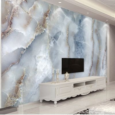 Custom Any Size Abstract Marble Stone Wall Cloth Living Room Sofa TV Background Wall Decorative Wall Paper Waterproof Wall Mural