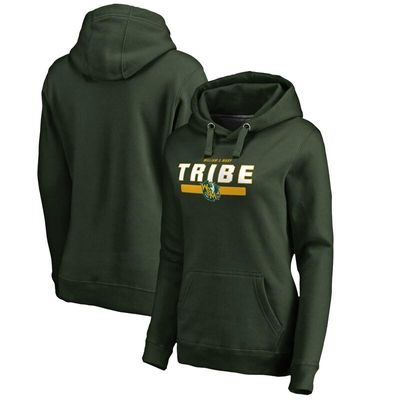 William & Mary Tribe Women's Team Strong Pullover Hoodie - Green