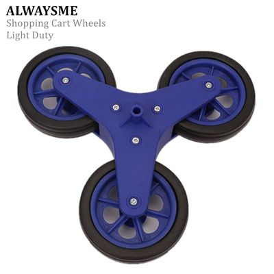ALWAYSME Light-Duty 1PCS Replacement Stair Climbing Shopping Cart Wheels For Shopping Laundry Cart Hole Diameter 8.3mm
