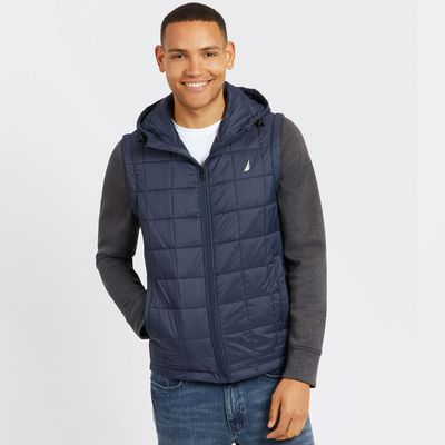 Nautica Quilted Jacket With Detachable Sleeves