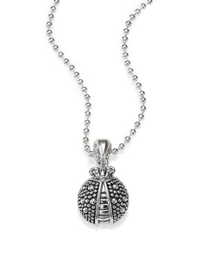 Lagos Sterling Silver Beaded Ladybug Necklace
