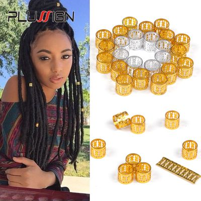 Hair Ring For Braids Hair Clips 100 Pcs Dreadlock Beads Silver Green Yellow Golden Pink 7 Color Available Dreads Accessories