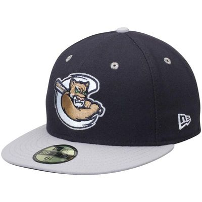 Kane County Cougars New Era Road Authentic Collection Low Profile 59FIFTY Fitted Hat - Navy/Gray