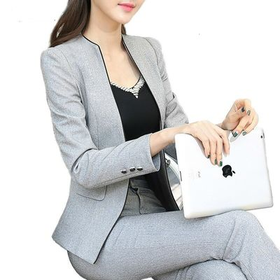 Working Formal Blazer Suit Pants Size Large Business Office Women Costume Femme Tops And Blouses Favourite Maternity