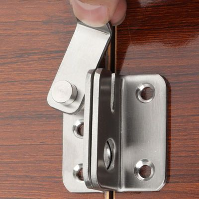 Left/Right Open Bolt Anti-theft Security Door Thickened Stainless Steel Bolt Locker Lock Hasp Shan for Home Room Cabinet