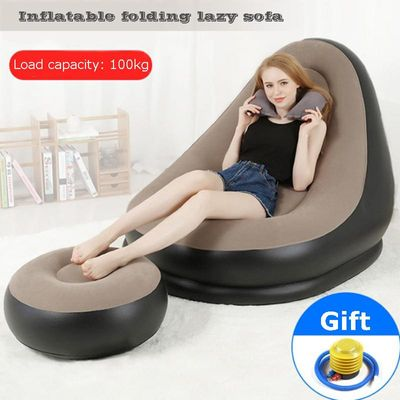 Inflatable sofa lazy sofa bed lunch break sofa portable suit season hot outdoor furniture  FC0102