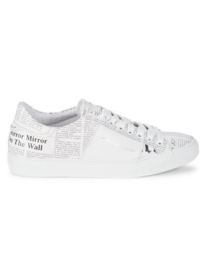 John Galliano Leather Low-Top Gazette Sneakers