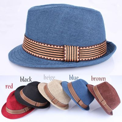 Baby Boys Girls Hat Baby Cup Baby Hat Children Jazz Straw Cap Fashion Kids Sun Cap European American Style 2-6T