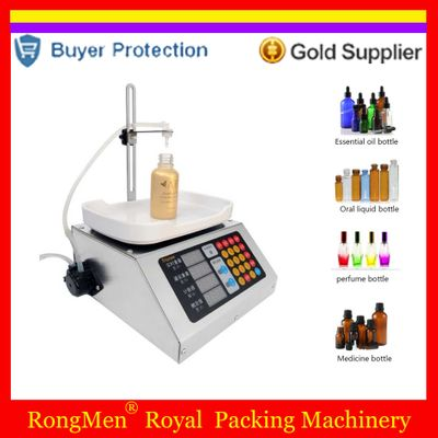 Weighing Peristaltic Pump Filling Machine Electronic Scale Liquid Filler 110v-220v Beverage Milk Perfume 0-50ml Free Shipping