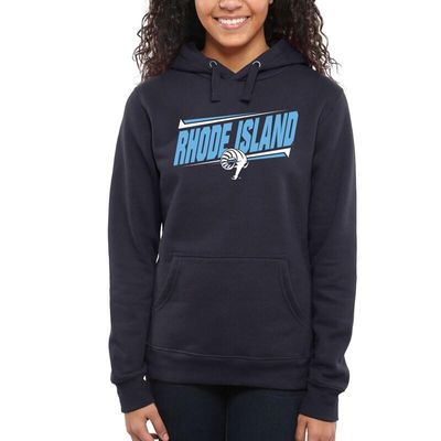 Rhode Island Rams Women's Double Bar Pullover Hoodie - Navy