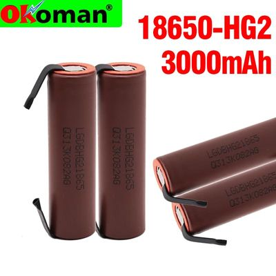 Original large capacity HG2 18650 3000mah Rechargeable battery for HG2 power high discharge large current+DIY nicke