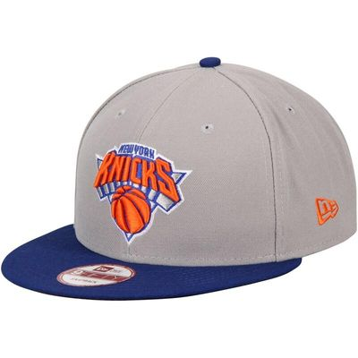 New York Knicks New Era Team 9FIFTY Snapback Adjustable Hat - Gray