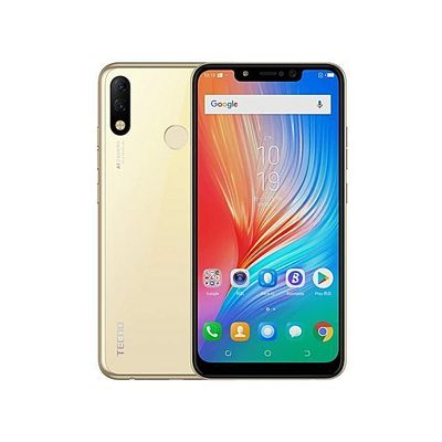 Spark 3 Pro (KB8) 6.2-Inch HD+ FullView (2GB, 32GB ROM) Android 9 Pie, (13MP+2MP)+8MP, Face & Fingerprint ID, 3500mAh Dual SIM 4G Smartphone - Champagne Gold