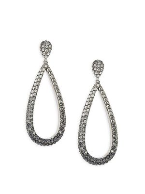 Adriana Orsini White-Rhodium Crystal Teardrop Drop Earrings