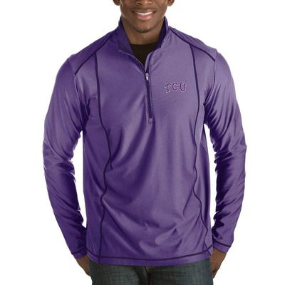 TCU Horned Frogs Antigua Tempo 1/2-Zip Desert Dry Pullover Jacket - Purple