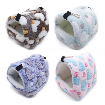 New Flannel Cat Cage Hamster Cotton Nest Sugar Glider Sleeping Bag Squirrel Mini Hedgehog Warm Winter Thickened House