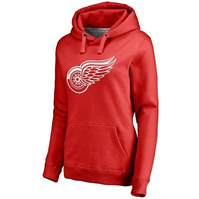 Detroit Red Wings Women's Primary Logo Fleece Pullover Hoodie - Red