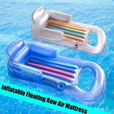 Inflatable Floating Row Beach Swimming Air Mattress Pool Floats Floating Lounge Sleeping Bed for Water Sports Party 161x84cm