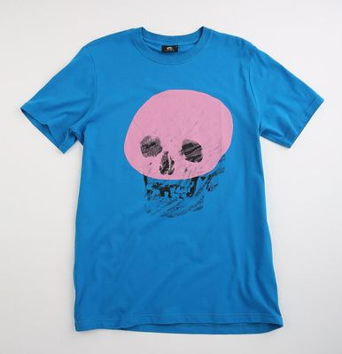 Paul Smith Men's Pink Skull T-shirt