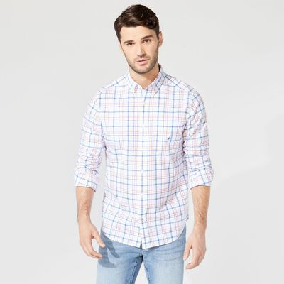 Nautica Classic Fit Plaid Button-down Shirt