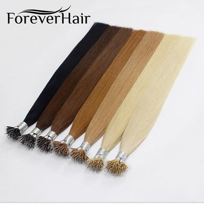 FOREVER HAIR Straight 100% Remy Human Nano Ring Hair Extensions 0.8g/s 16
