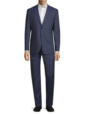 Saks Fifth Avenue Made in Italy Slim-Fit Pinstripe Wool Suit
