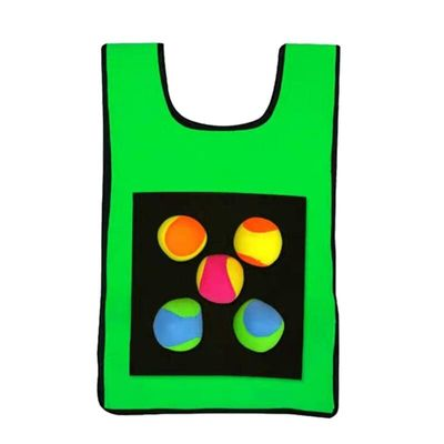 Game Props Vest Outdoor Parent-Child Interactive Vest Sticky Ball Outdoor Play Throwing Sticky Target Collective Game Vest Sti