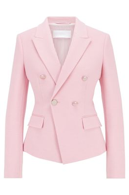 HUGO BOSS - Double Breasted Regular Fit Jacket In Structured Jersey