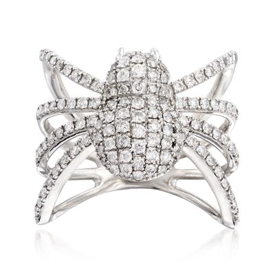 Ross-Simons Diamond Spider Ring in Sterling Silver