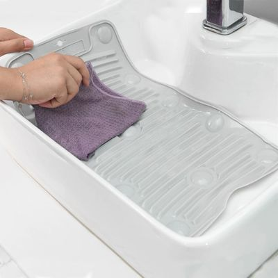 Practical Laundry Tool easy to store Household Portable Folding Washboard Mini Silicone Anti-slip Laundry Mat Washing Board