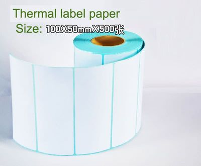 100mm x 50mm x 500 thermal sticker paper thermal barcode paper for thermal printer thermal label paepr