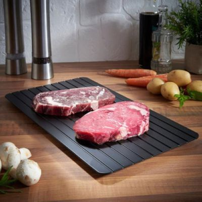 Defrosting Tray Thaw Rapid Heating Tray Fast for Freezing Meat FoodNo Electricity  Non-stick No Chemicals Safety Kitchen Tool