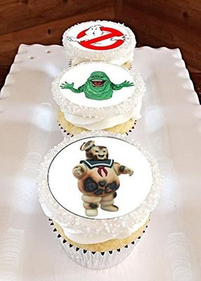 12 Ghostbusters Edible Frosting Image Cupcake Toppers