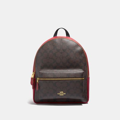 COACH Medium Charlie Backpack In Signature Canvas