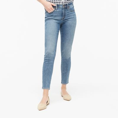 J.Crew Factory 8in Mid-rise Skinny Jean In Authentic Blue Wash