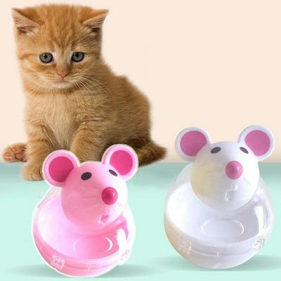 Pet Cat Dog Tumbler Automatic Leaking Device Cartoon Mouse Shape Cat Toy Pet Supplies Cat Automatic Feeders 4
