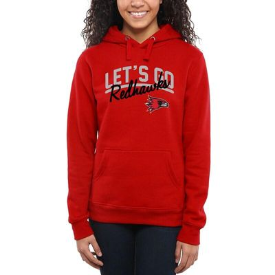 S.E. Missouri State Redhawks Women's Let's Go Pullover Hoodie - Red